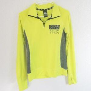 🍂Pink Victoria's Secret Neon Yellow Jacket